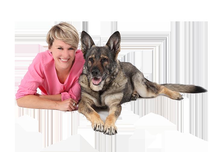 Foto: Agnes und ihr Hund Jimmy